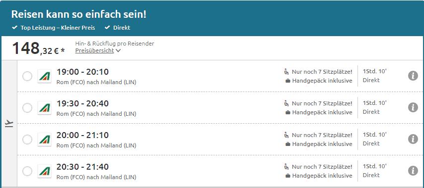 Prezzo biglietto aereo germania
